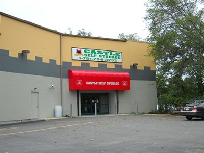 very far side view of store front