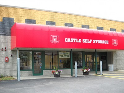side view of store front