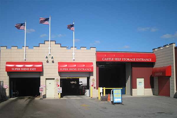 Front of Castle Self Storage in South Boston